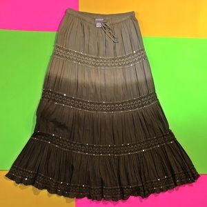 Maxi hippie boho skirt fashion bug ombre sequin